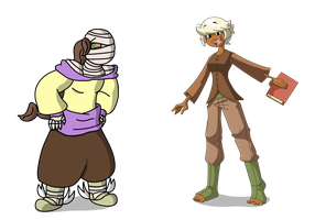 Sina And Aby Clothes Swap by TheArgoNinja