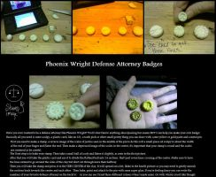 How to: Phoenix Wright Badge by LaylaPathos