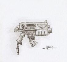 Space Marine Boltgun by arhicks