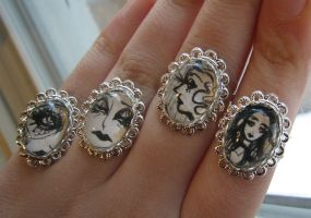 Original Art Drawing Rings by asunder