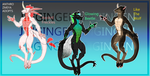 Anthro Zmeya Adopts 2/3 open, custom slot open. by JinGinGen