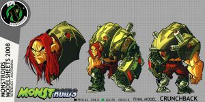 Monstroids Modelsheet 08 by RobDuenas