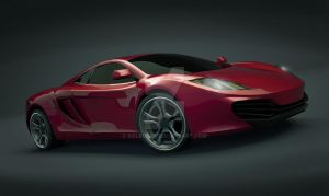 Mclaren mp4-12c 3d rendering by koleos33
