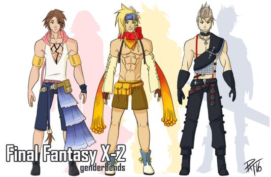 Genderbend Concepts - Final Fantasy X-2 by PixelMagus
