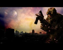Halo 3 Wallpaper Concept by igotgame1075