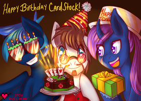 Card Stock Bday Commission by ladypixelheart