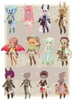 Bigger adopts and outfits set CLOSED by MMtheMayo