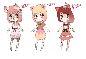 Sweet adopts by AmySweetWolf