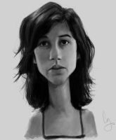 Ashley Burch Caricature by Pungyeon