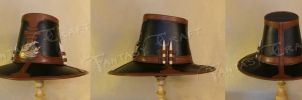 Leather hat 'Witch Hunter' by Fantasy-Craft