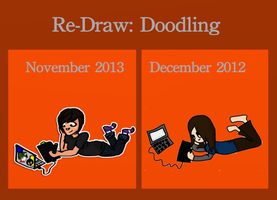 Re-draw: Doodling by pixel-Inked
