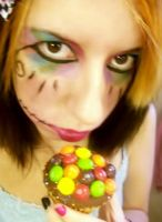 Skittle Cupcake by my-bloody-death