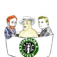 Conan O'Brien Starbucks Bath by patumaliuan