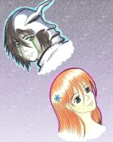 Ulquiorra And Orihime by DarkAngel0267