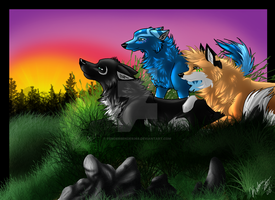 .:Latiwolf Gift:. True Friends by fenderbender368