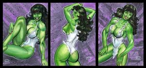 SHE HULK PERSONAL SKETCH CARDS by AHochrein2010