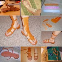 Nami-Cosplay: Sandals (finished result + WIP) by S-Meerschwein
