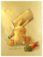 I Heart Carrots by azurecorsair