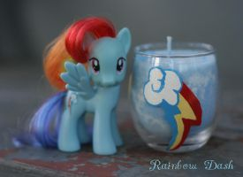 Rainbow Dash Cutie Mark Candle by LadyButterscotch
