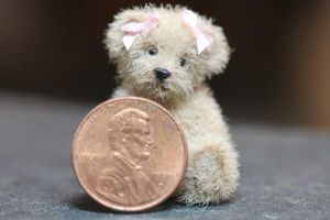 Miniature 1 inch  teddy bear by kimbearlys