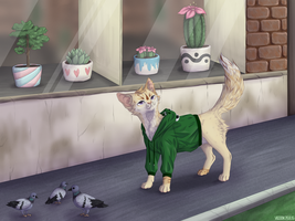 commission: cat by vicoon7