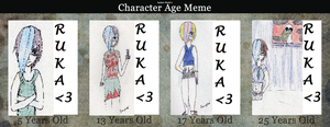 Character Age Meme by XceptionOvrRuled