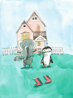 Elephant and Penguin by egonSchiele