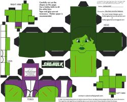 Marvel8: She-Hulk Cubee by TheFlyingDachshund