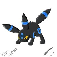Shiny Umbreon by Popokino