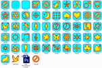Light blue-orange set icons PNG and ICO + PSD by vitago