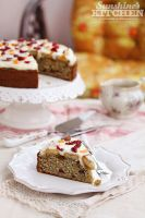 Banana cake with cream cheese frosting by kupenska