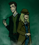 Doctor Holmes and Rose Watson by Leon9606