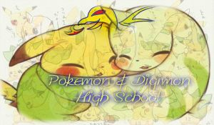 Pokemon and Digimon High School by Joshua-Sora