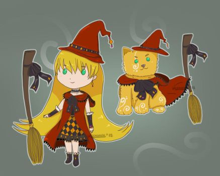 Witch - witchdog set adoptables -paypal- [OPEN] by Makikuri