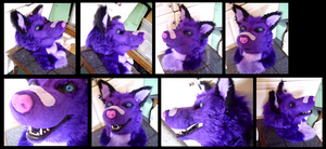 Sparkle Wolf Head by CuriousCreatures