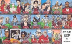 Walking Dead Comic Cards by phymns
