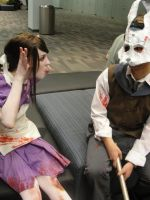 Splicer and Little Sister by waste0fcarb0n