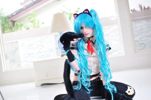Hatsune Miku : Nyanko by LolaInProgress