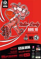 Nickel City Roller Derby Aug 10th Poster! by Of-Red-And-Blue