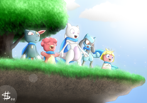 Pkmn MD:Azure Team by Esepibe