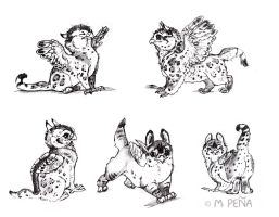 Page of griffin chicks by Reptangle