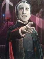 Christopher Lee - Dracula by russraff