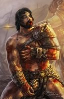 Crixus the undefeated gaul by Brolken