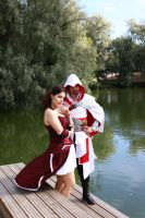 Ezio and Courtisan by Sesshofan