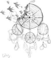 DreamCatcher tattoo design by A-Psycho-Banana