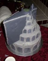 Minas Tirith Wedding Cake 4 by bronze-dragonrider