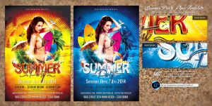Summer Party Flyer Template by ranvx54