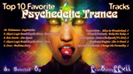Top 10 Psychedelic Graphic Album Art(Tracks Text) by FranBunnyFFXII