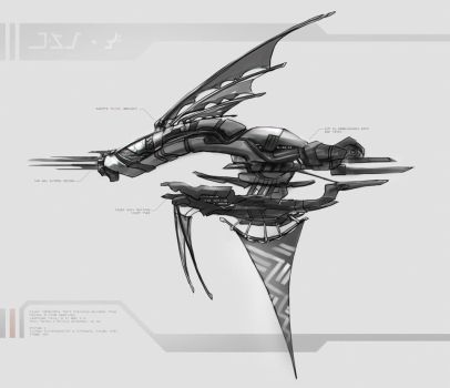 Alien Airship Concept by DireImpulse