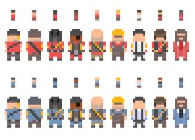 simple tf2 characters by Lobsterprince